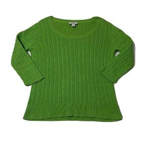 Women's Green Loft Sweater Blouse